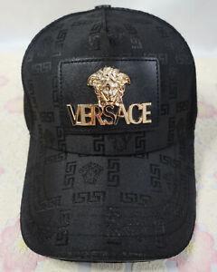 Versace Baseball Hat Outdoor Sport Cap Black