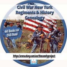 441 pdfs New York Civil War Regiment History Genealogy Collection Rare 3 DVDs