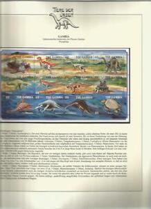 81563/ Dinosaurier Fauna Tiere ** MNH OHNE VORDRUCK GAMBIA