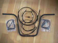 """Black 16"""" Ape Hanger with Burly cables for Harley-Davidson Dyna 2007 & later"""