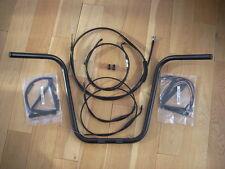"Black 16"" Ape Hanger with cables for Harley-Davidson Dyna 2006"