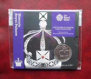 UK 2019 Tower of London - the crown jewels 5 pound coin