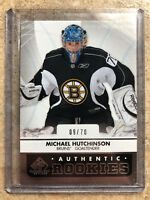 12-13 UD SPGU SP Game Used True Authentic RC Rookie #106 MICHAEL HUTCHINSON /70
