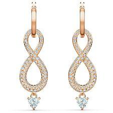Swarovski Crystal Infinity Pierced Earrings, Rose-Gold Tone Plated 5512625