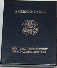 Box & Case Prf Platinum Eagle 1/10 oz New Unused US Mint Product NO COA,NO COINS
