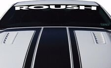 WHITE Ford Mustang ROUSH Windshield Vinyl Decal Sticker Custom Vehicle Logo