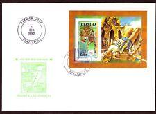 Kongo Mi-Nr. 1347 als Block - FDC - Olympische Sommerspiele 1992, Barcelona