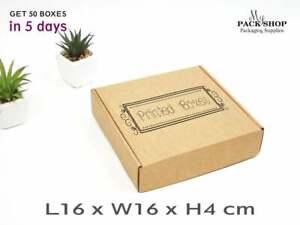 Cardboard Shipping BOXES Logo PRINT Royal Mail Postage Carton Kraft Packing Box