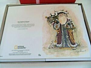Christmas Cards 12 Peggy Abrams Santa Olde English Gentleman National Geo. NEW