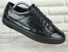 FITFLOP Super T Sneaker Womens Black Leather Trainers Shoes Size 7 UK 41 EU