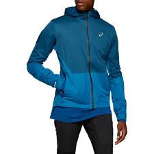 Asics Mens Winter Accelerate Running Jacket Top - Blue Sports Full Zip Hooded