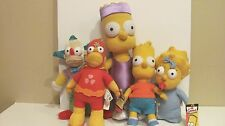 The Simpsons Plush Toy Characters 2005 Russ Toys Bart Krusty Homer w/ tags Rare
