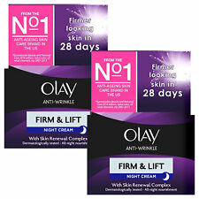 Olay Anti-Wrinkle Night Cream, Firm & Lift with Skin Renewal Complex, 2Pk, 50ml
