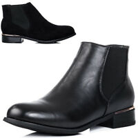 Womens Flat Chelsea Ankle Boots