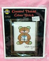 New NMI Needlemagic Teddy Bear To Baby With Love Counted Cross Stitch Kit