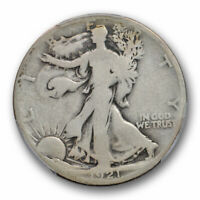 1921 D 50C Walking Liberty Half Dollar PCGS G 4 Good Key Date Denver Mint Cer...