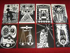 22 arcanes de tarot mystique noir et blanc jeu de carte divinatoire petit format