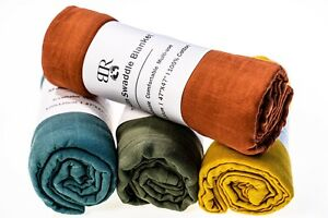 100% Organic Cotton Muslin Swaddle
