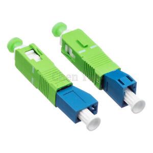 2pcs SC APC Male to LC PC Female Fiber Optic Hybrid Optical Adaptor