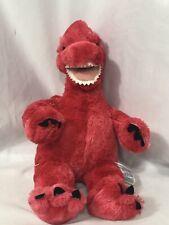Build a Bear Workshop Red T-Rex Dinosaur Plush Stuffed Animal Toy