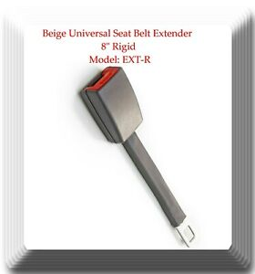 "Grey Universal Seat Belt Extender 8"" Rigid Extension Model: EXT-R With Buckle"