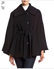 Calvin Klein Collection Women's Black Virgin Wool Blend Coat Size L/XL NWT 220$