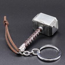 Thor Hammer Hammerfall Metal Keyring Silver Charm Pendant Keychain Free Shipping