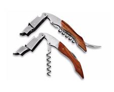 Tire bouchon Sommelier Ouvre Bouteille Décapsuleur en acier inoxydable & bois