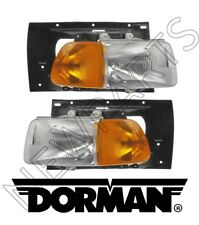 Sterling Truck A9500 Ford A9513 Left & Right Heavy Duty Headlights Set Dorman
