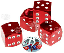 Set of 4  Dice Valve Dust Caps Covers for Car Motorcycle ATV Tyre Tire Wheel