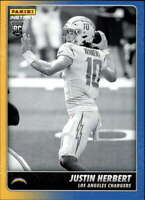 2020 Panini Instant Black and White #BW14 Justin Herbert RC Rookie Los Angeles C