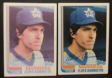 FLOYD BANNISTER 1982 Topps Baseball ERROR Washed INK White SPECKLE Card #468