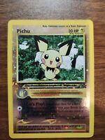 PICHU # 35 Reverse Holo NEAR MINT Black Star PROMO WOTC Rare Pokemon Card