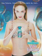 Publicité papier - advertising paper - eau Future d'Eau Jeune