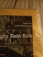 PVC Rain Suit SAS Safety 6813 Light Weight Size Large