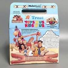 Rare 1994 FLINTSTONES Movie Toys R Us Exclusive Treat Box w/ Games & Trivia