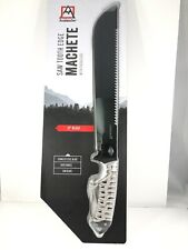 "New! Avalanche-Saw Tooth Edge 11"" Machete With Silver Paracord Handle And Sheath"