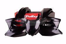 Kawasaki plastic kit KXF 450 2013 - 2015 All Black Motocross MX 90547 Polisport