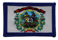 State Of West Virginia Flag Embroidered Iron On Patch - WV Travel Souvenir 216-R