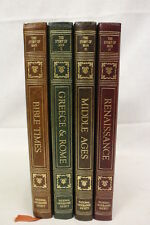 Mint The Story Of Man 1-4 Volume Set - National Geographic Society - Gold Gilt