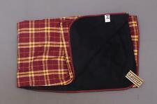 "nWT ZUZIFY Fleece Lined Flannel Throw Blanket Red 48"" x 60"""