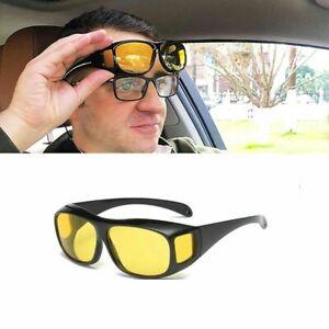 Nachtsichtbrille Auto Fahren Kontrastbrille Überziehbrille KFZ Nachtfahrbrille