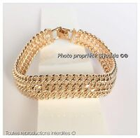 Bracelet Maille américaine Plaqué Or 18 carats NEUF Bijoux Femme