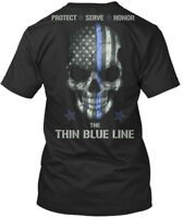 Thin Blue Line S And - Protect Serve Honor The Premium Tee T-Shirt