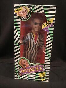 BEETLEJUICE Vintage 1989 Kenner Pull String Talking Doll in Box - Talks Fast
