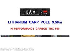 DAM LITHANIUM HI-PERFORMANCE CARBON CARP TRX950 POLE COARSE FISHING ROD PUT OVER