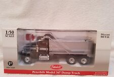 first gear 1 50 scale 50-3164 Peterbilt model 367 dump truck midnight green/silv