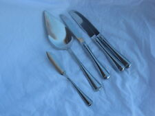 Gorham Stainless Monet Glossy Solid Pie Server, Butter, Dinner Knives  5 Pieces