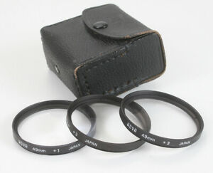 HOYA CLOSE-UP LENS SET, 49MM, WITH CASE 1 2 AND +3/178412