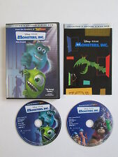 Monsters, Inc. DVD, 2002, 2-Disc Set, Collectors Edition Disney Pixar Excellent